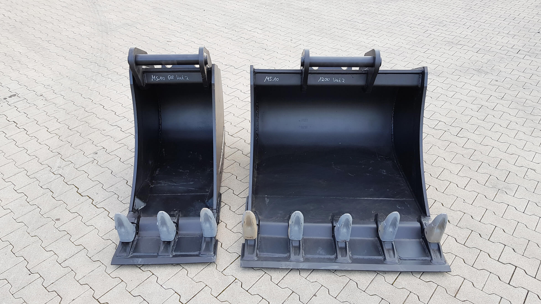 Tieflöffel MS10 600 + 1200 Vorsteckmesser/Steckzähne