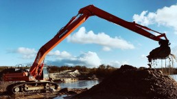 Long Reach Doosan DX530 work 2