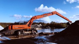 Long Reach Doosan DX530 work 3