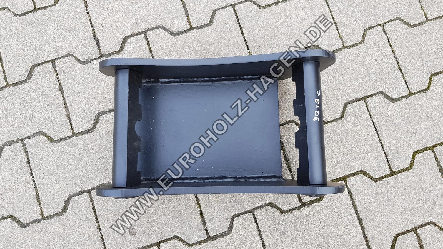 Anschweißrahmen MS03 mit Boden Adapterrahmen Schnellwechsler Minibagger MS 03