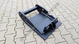 Anschweißrahmen MS10 mit Boden Anschweißplatte Platte Adapter Anschweiß