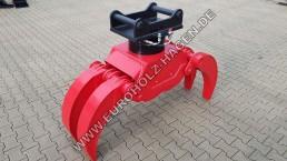5 Finger Holzgreiger MS10 mit THUMM Rotator 615H Greifer Bagger Thumm-Rotator
