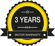 Digga 3 years motor warranty