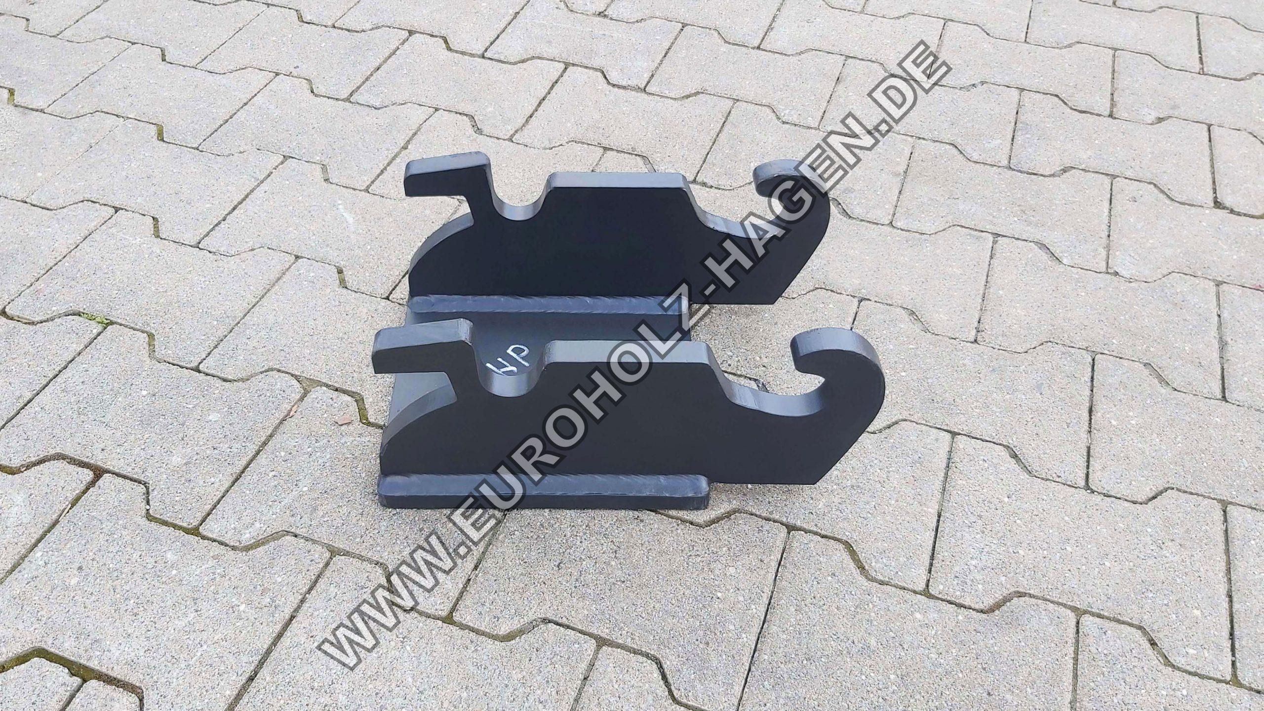 Hammerplatte CW05 CW Verachtert Hammerplatten Löffel Bagger Platte CW mit Boden EH eh Euroholz