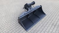 Hydraulic ditch cleaning bucket suitable for Lehnhoff MS21 / 2000 mm / cat. 4G / with bolt-on cutting edge