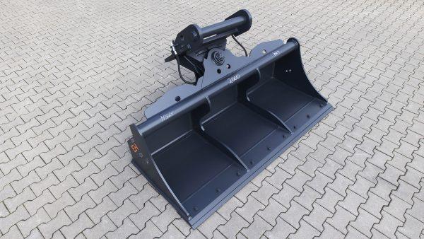 Hydraulischer Grabenräumlöffel passend für Lehnhoff MS21 / 2000 mm / Kat. 4G / mit wendbarem Unterschraubmesser