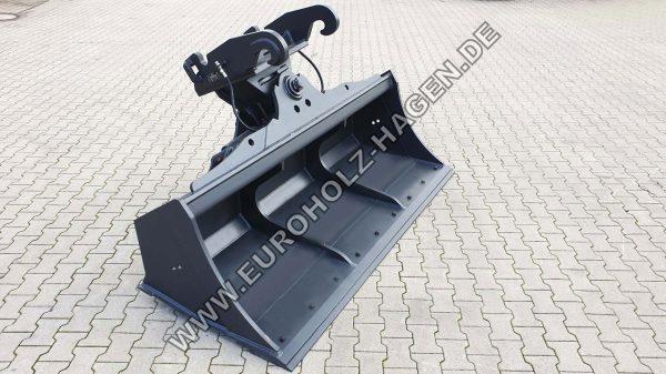 hydraulischer Grabenräumlöffel MS10 2000 mm schwenkbar Schwenklöffel Bagger Löffel Schaufel EH eh Euroholz Lehnhoff