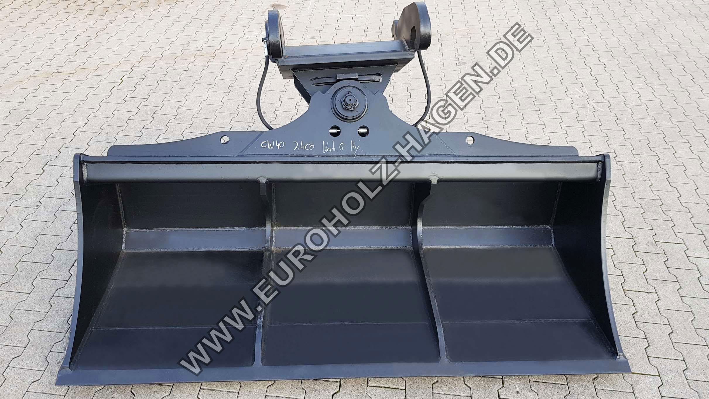 Grabenräumlöffel CW40 2400 mm schwenkbar Verachtert CW eh EH Euroholz