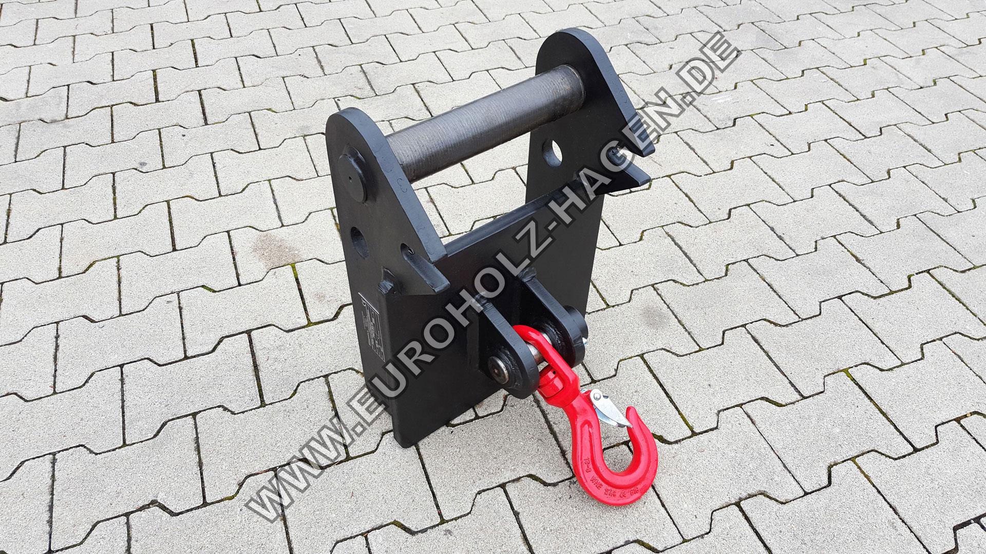Platte mit drehbarem Lasthaken Adapterrahmen Adapter Lehnhoff Adapter plate with rotating load hook
