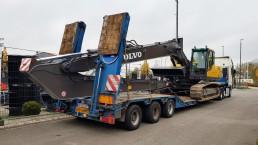 Transpor Kettenbagger Volvo EC240 Long Reach Bagger EC 240 Long Reach Armausleger Stielverlängerung Armverlängerung
