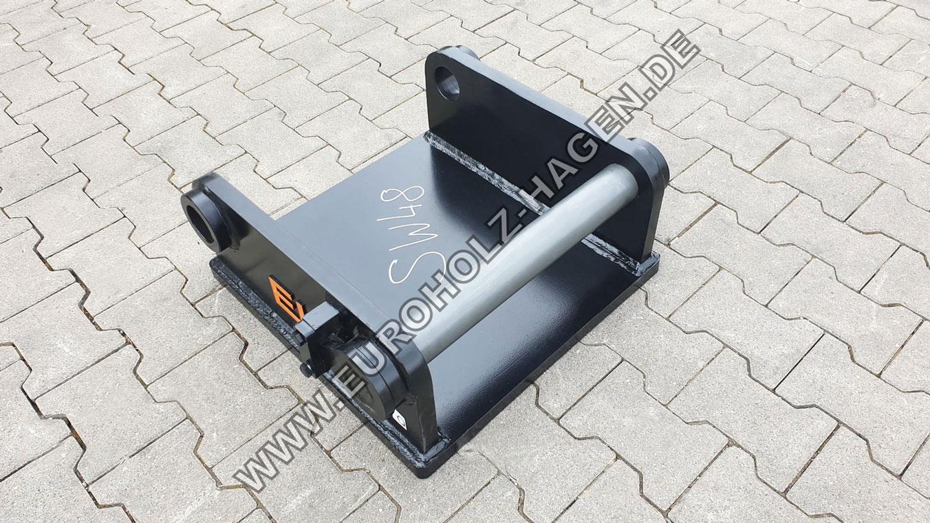 Anschweißrahmen SW48 Liebherr mit Boden Grundplatte Adapter Schnellwechsler Adapterrahmen Adapterplatte adapter