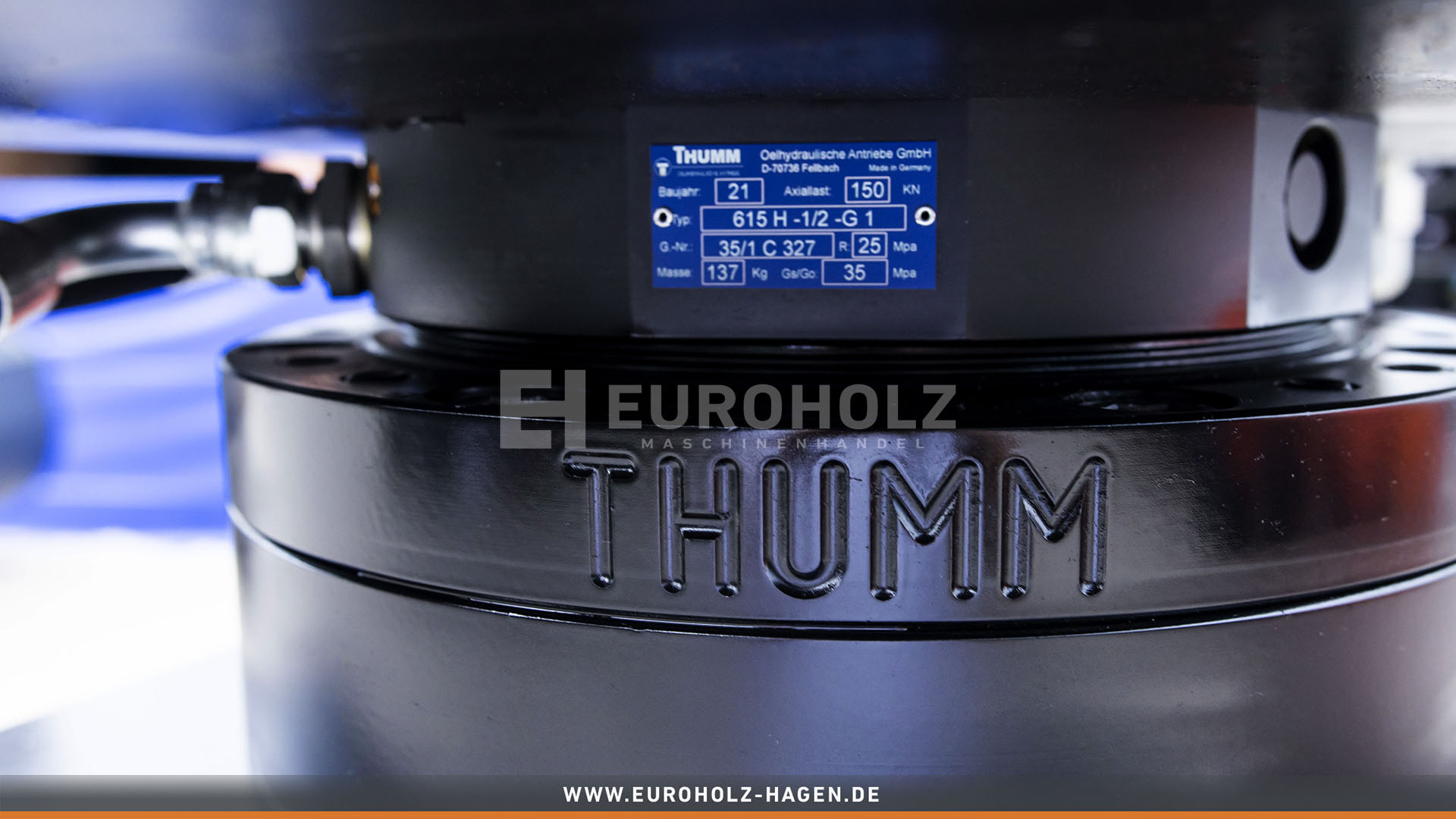 Sorting grab with the rotating system THUMM 615H suitable for Verachtert CW20 / cat. 1G