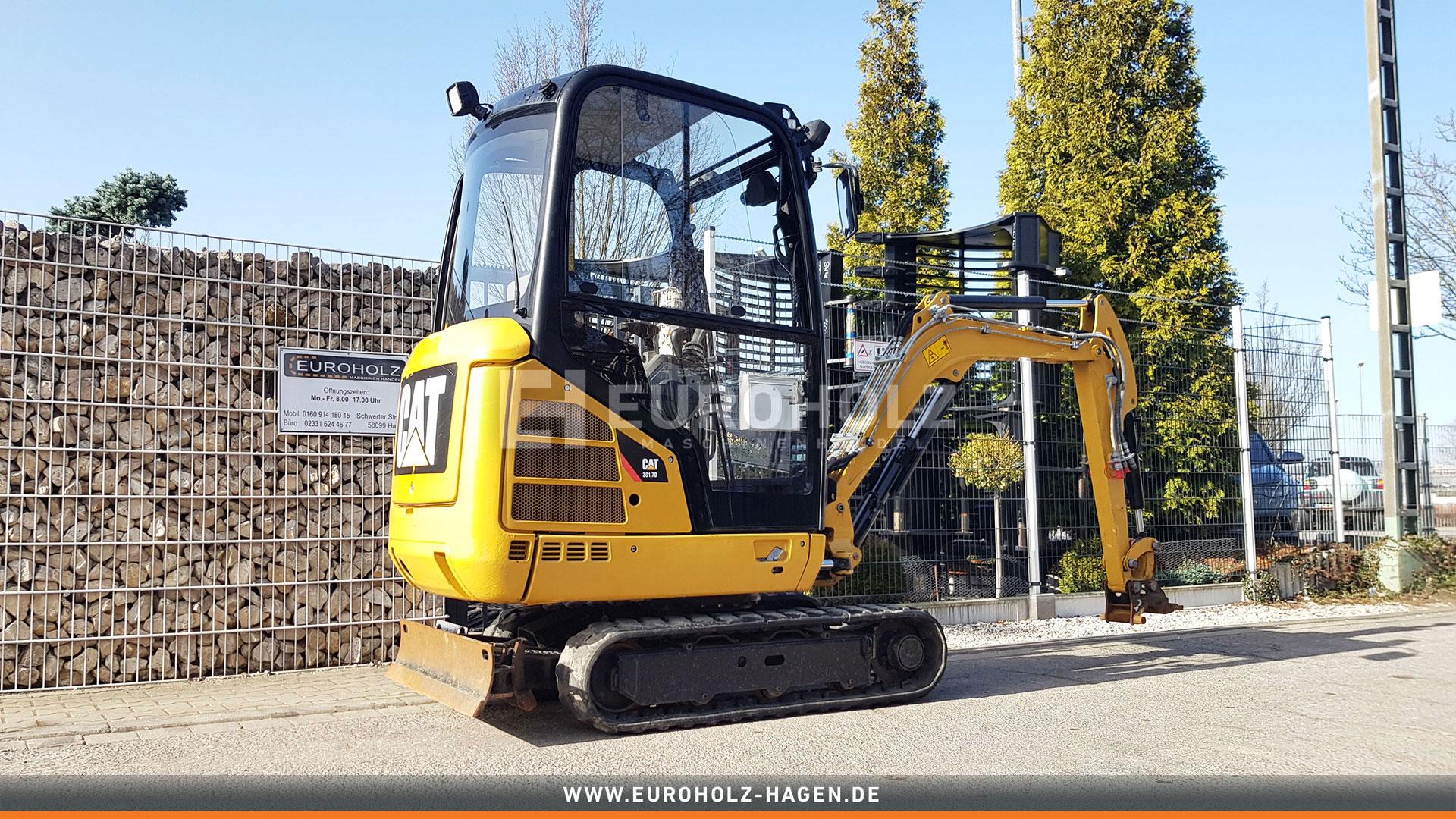 Minibagger CAT 301.7 D SW CW05 Proportionalsteuerung Hammer Greifer