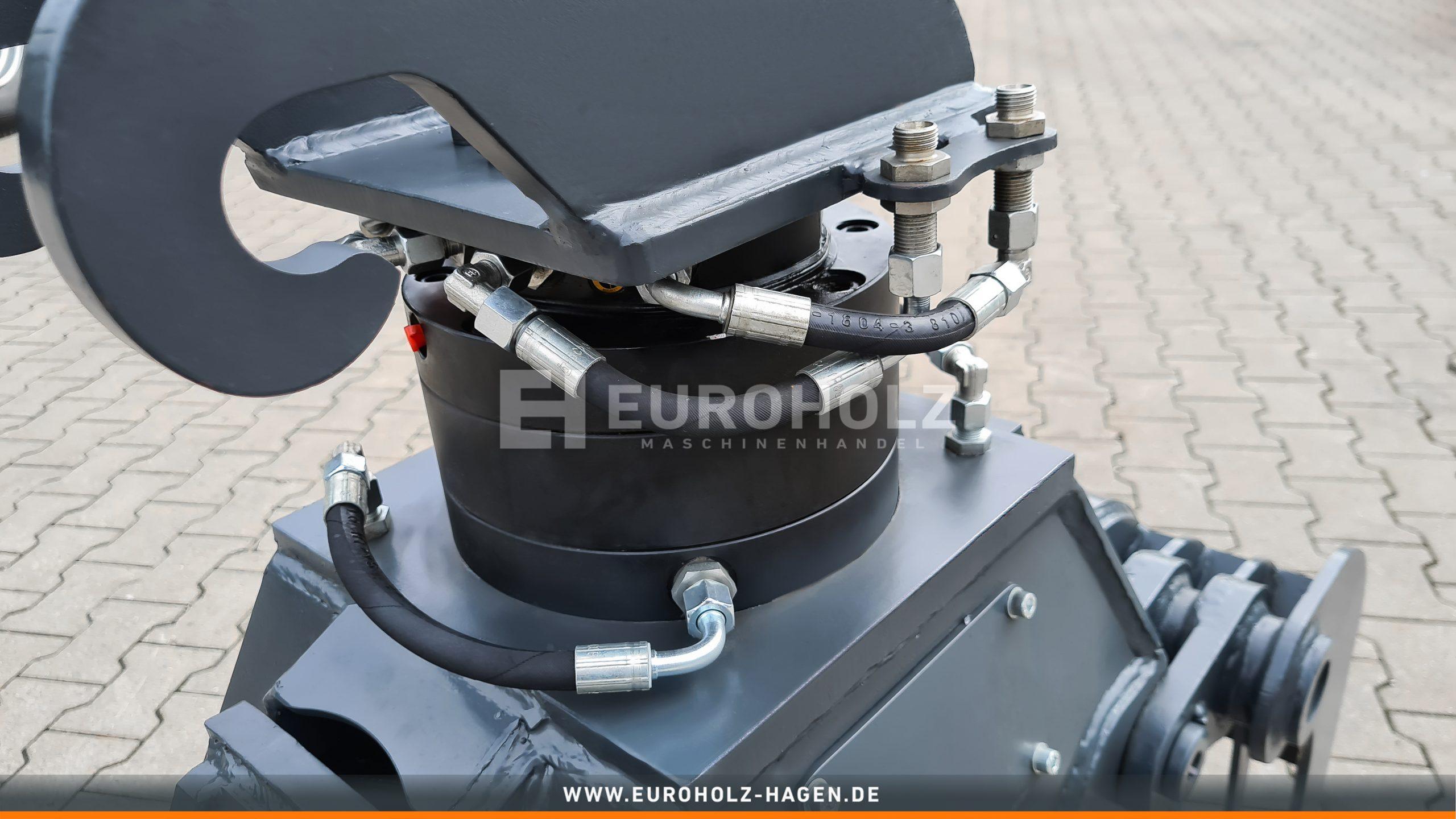 EH Sortiergreifer mit THUMM Rotator Typ 602F passend für Verachtert CW05 / Kat. 1
