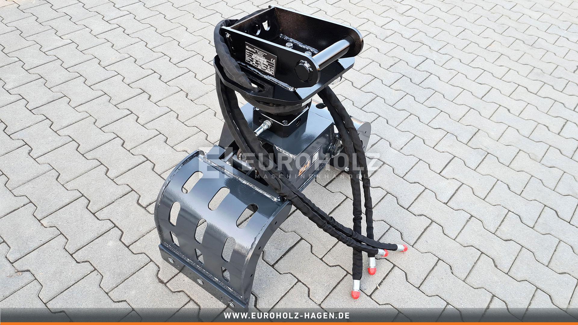 Sortiergreifer mit Rotator passend für Lehnhoff MS01 / Kat. 1K / inkl. Hydraulikset
