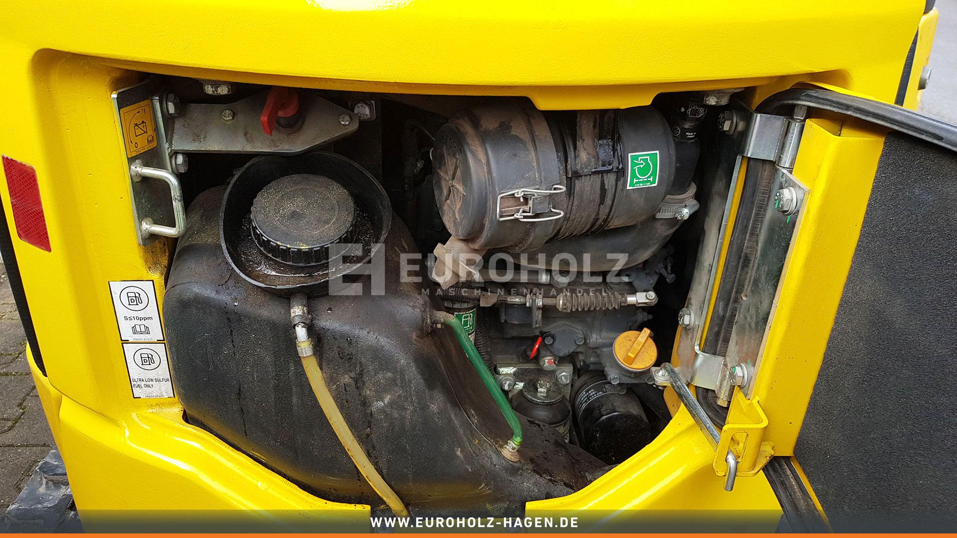 Minibagger Komatsu Pc 16R mit MS01 nur 716 Bh Verstell Fahrwerk
