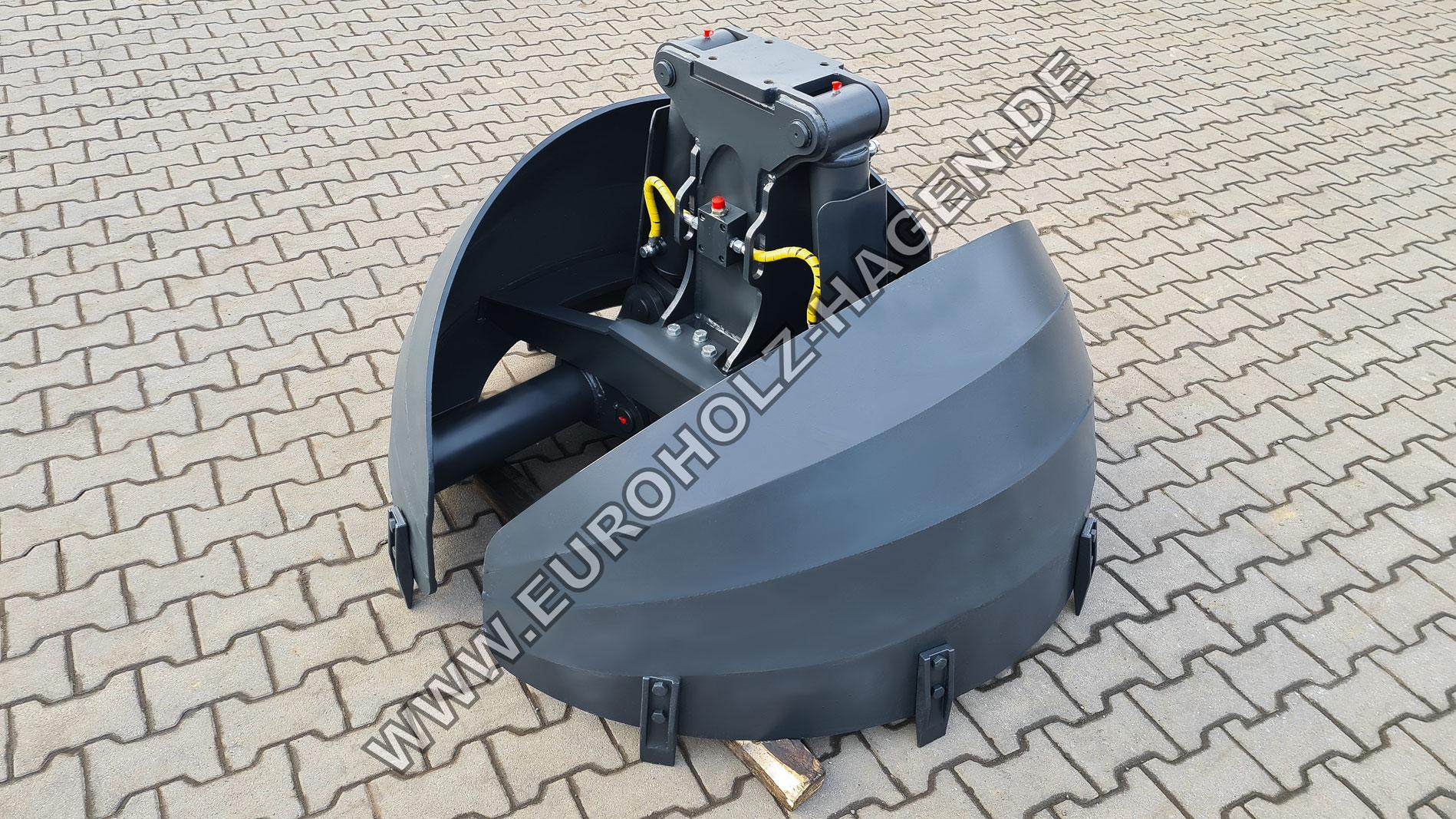 Rundgreifer mit dem Durchmesser 1500 mm inkl. Hydraulikleitungen