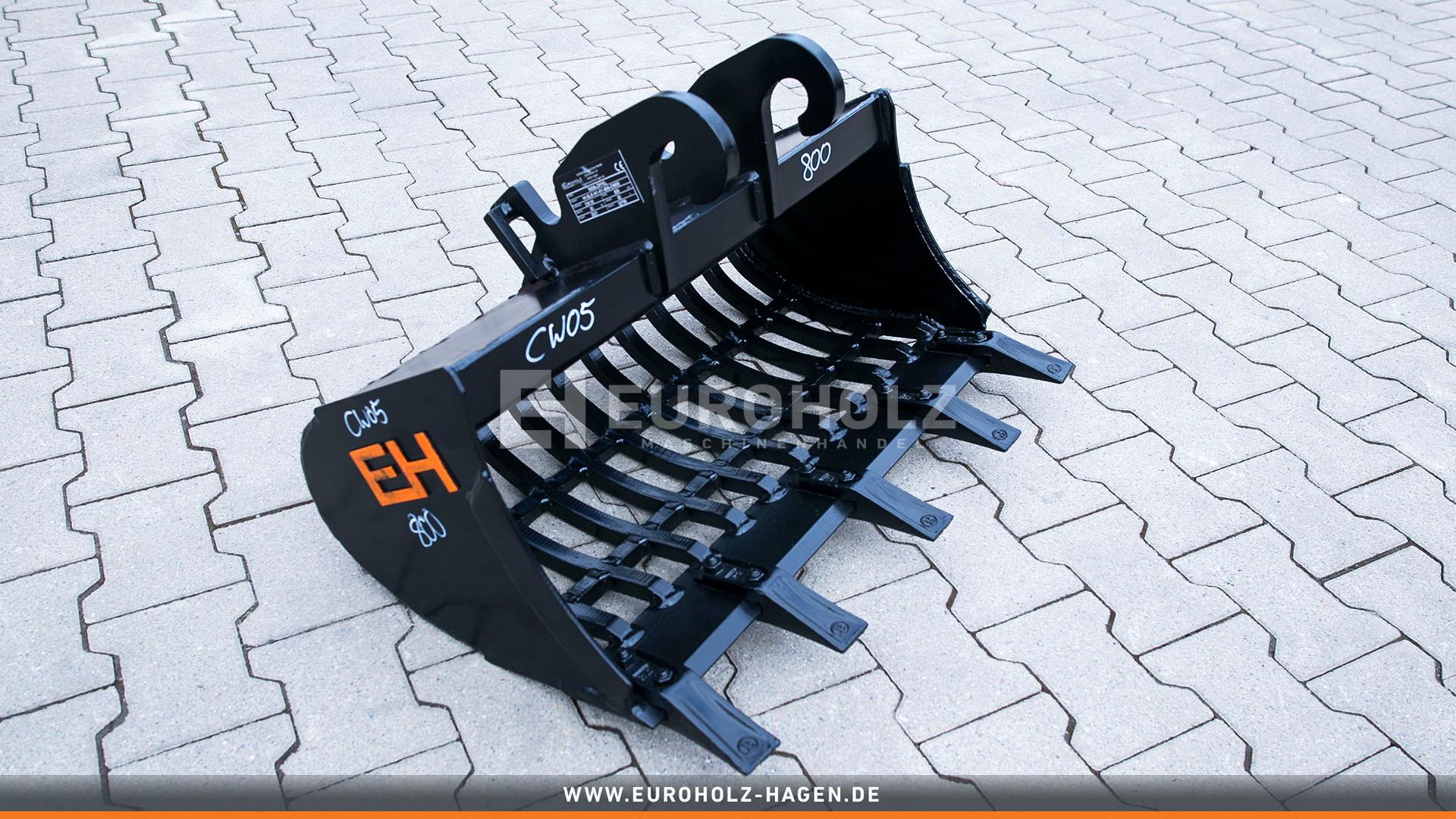 Skeleton bucket suitable for Verachtert CW05 / 800 mm / cat. 1K