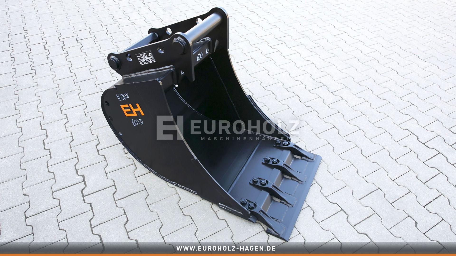 Tieflöffel passend für Lehnhoff MS08 SY / 600 mm / Kat. 5K / mit Aufsteckmesser