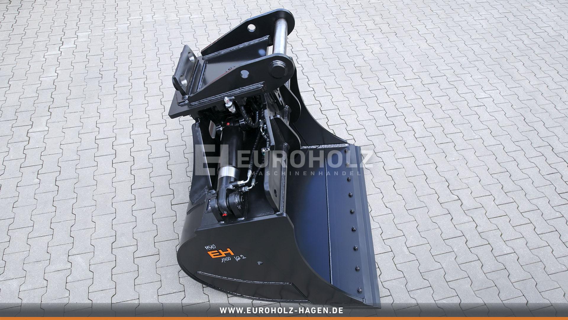 Hydraulischer Tieflöffel passend für Lehnhoff MS10 / 1400 mm / Kat. 2G / mit Unterschraub-Wendemesser
