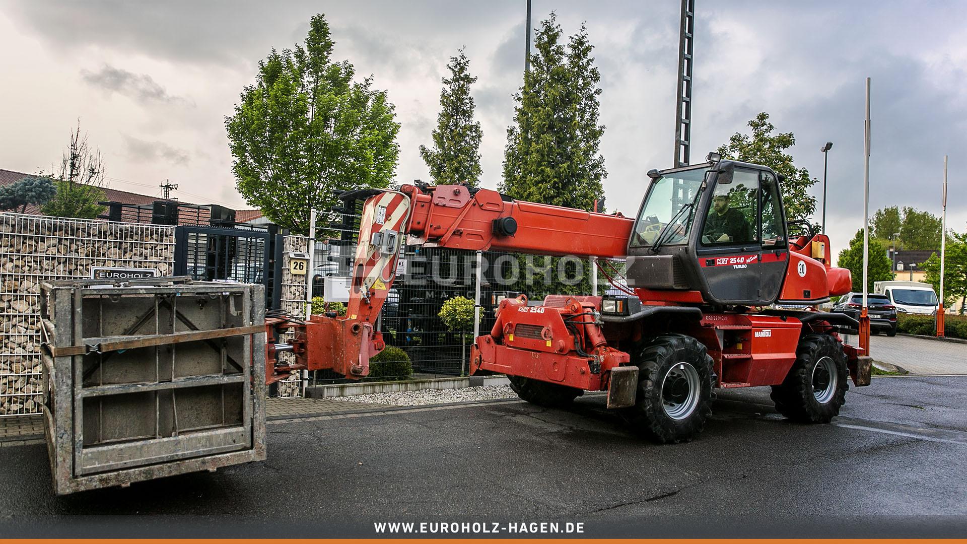 Radlader Manitou MRT 2540 Turbo Korb Schaufel Gabel Seilwinde TOP