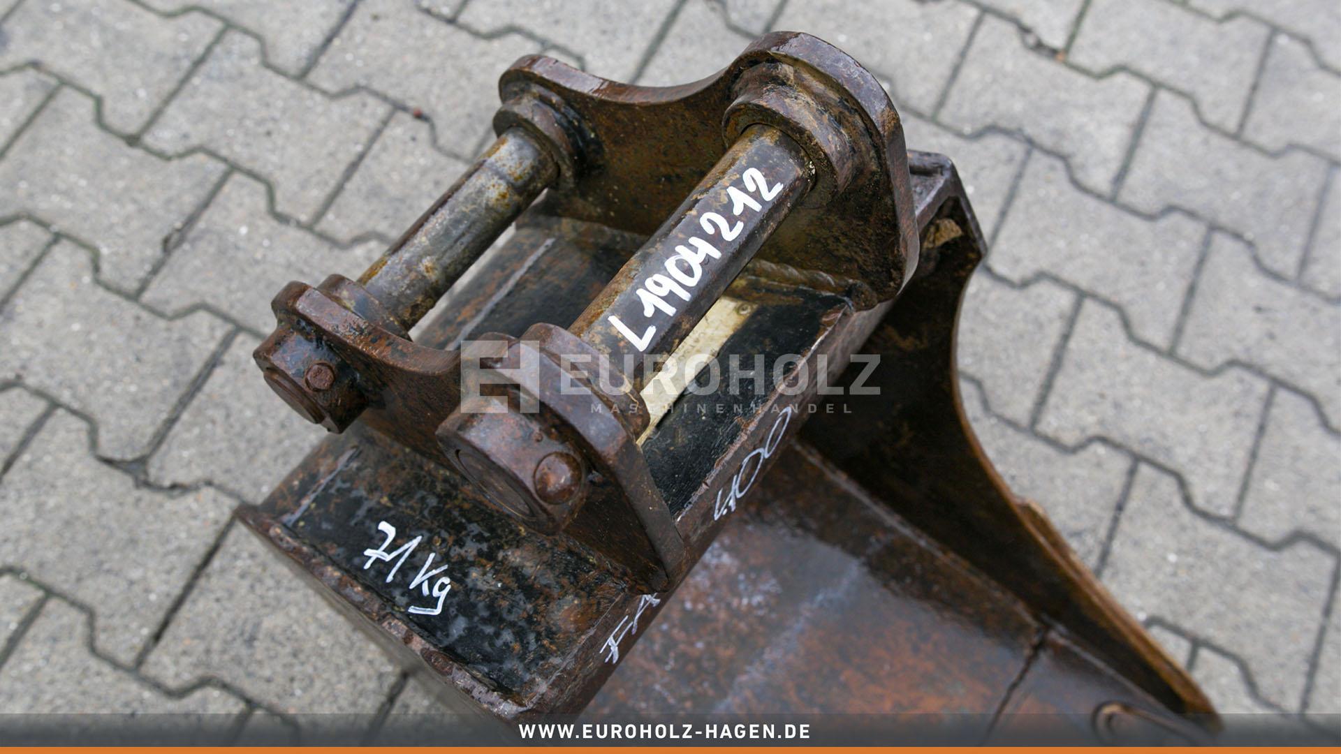 Tieflöffel mit Festanbau 40/135/200 400 mm (gebr.)