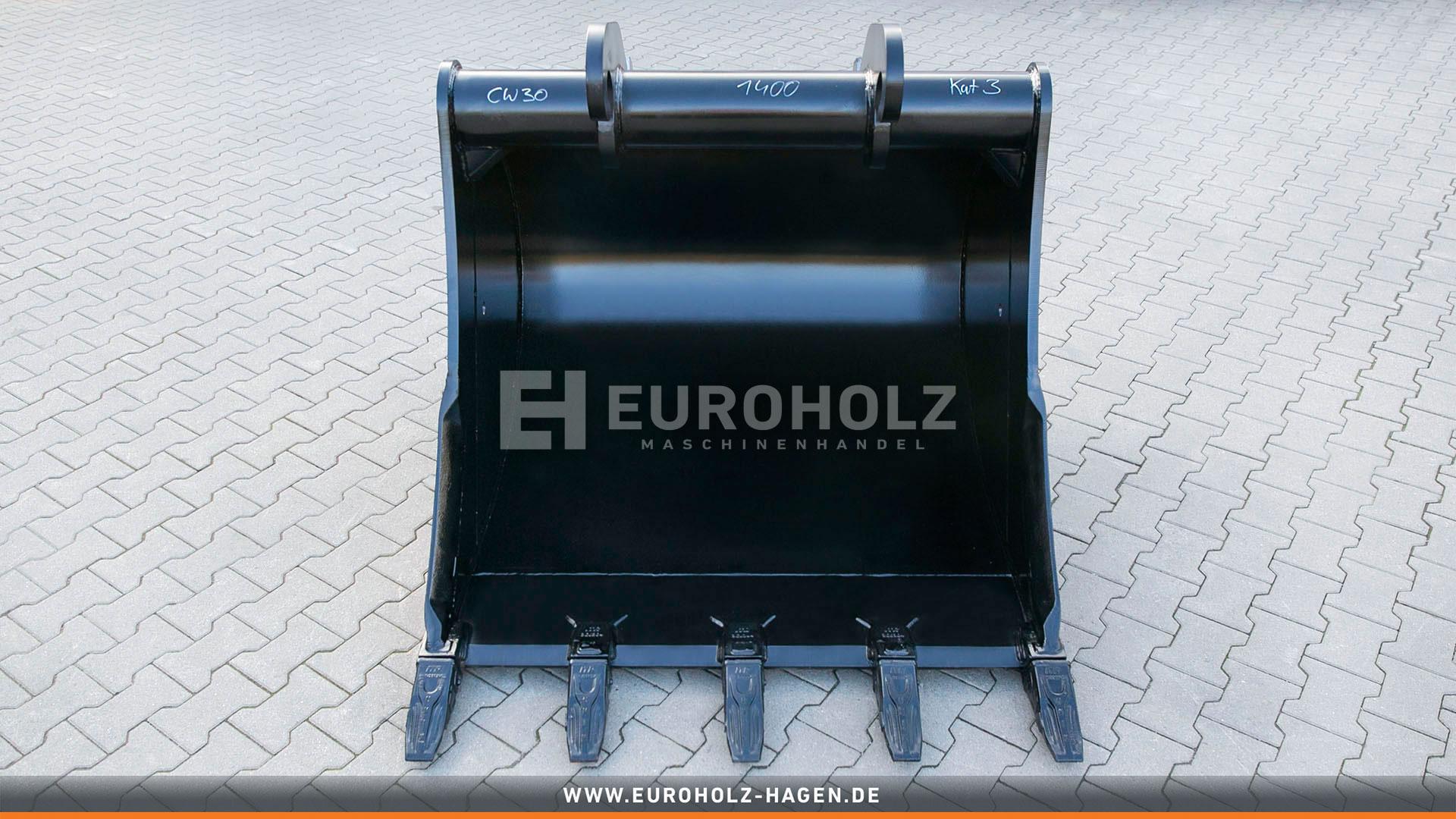 Tieflöffel passend für Verachtert CW30 / CW40 / 1400 mm / Kat. 3G