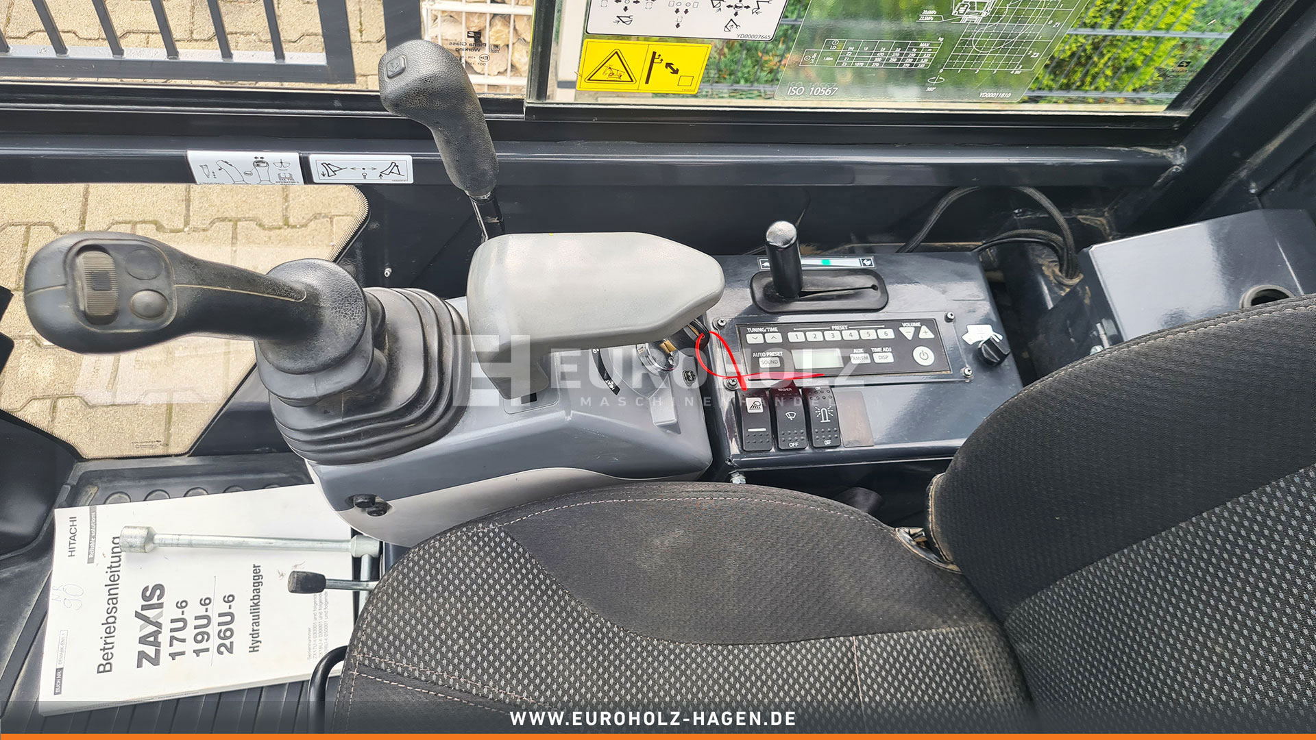 Minibagger Hitachi ZX19-6 nur 553 Bh Top Zustand