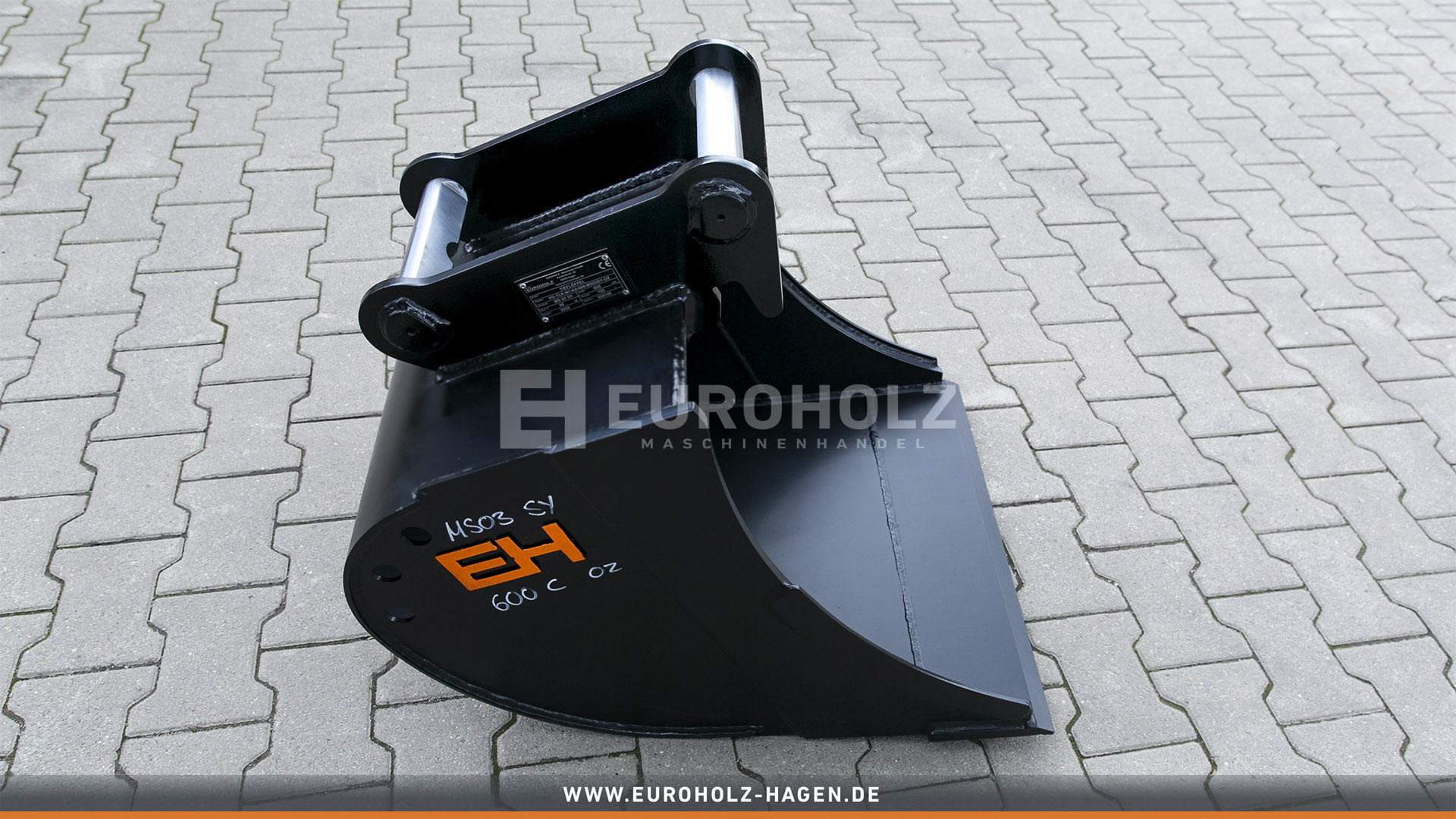 Digging bucket suitable for Lehnhoff MS03 SY / 600 mm / cat. 4K / without teeth