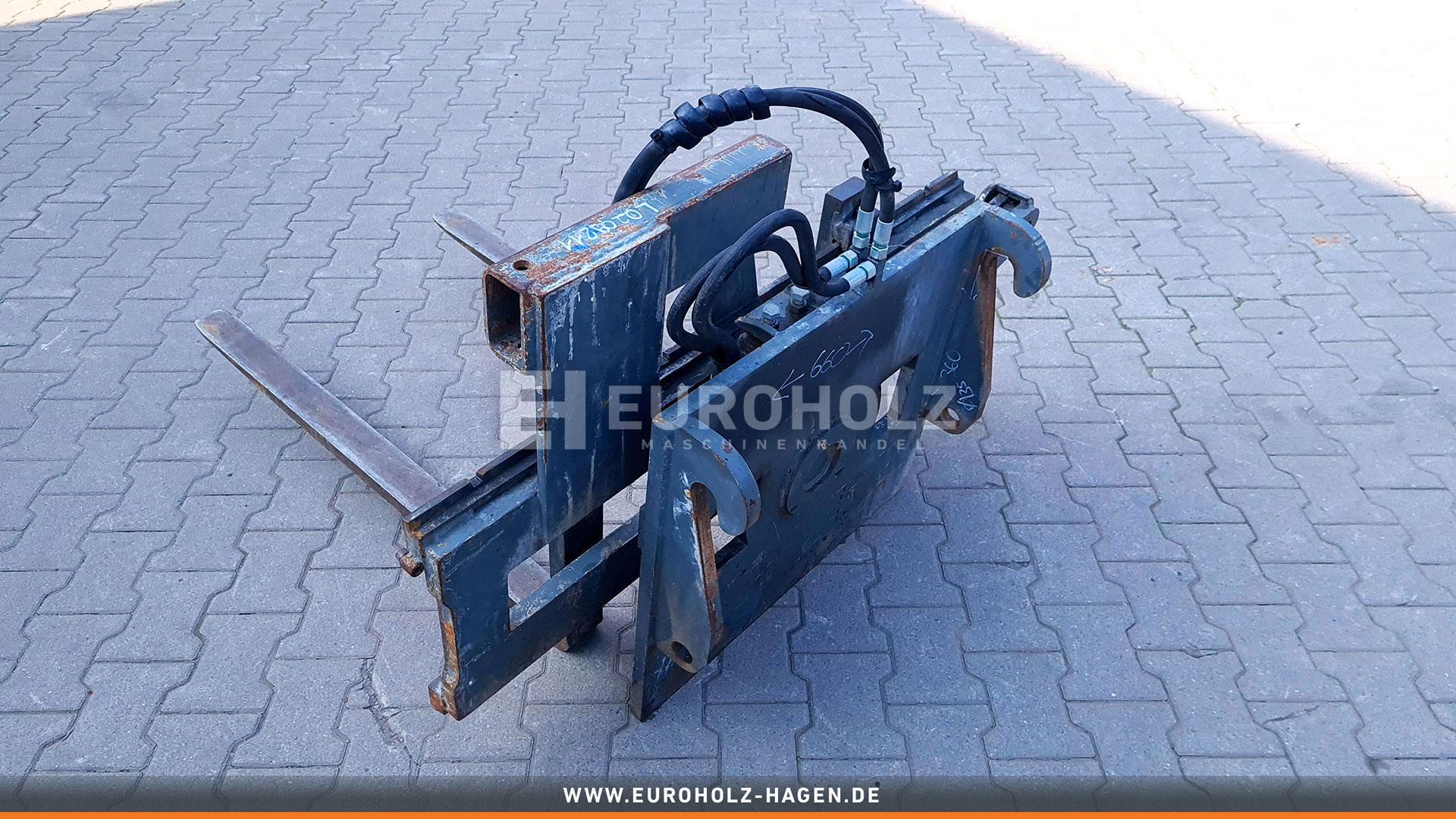 Hydraulische Palettengabel 1100 mm passend für Wacker Neuson WL20 WL25 WL28 WL35 WL38 (gebr.)
