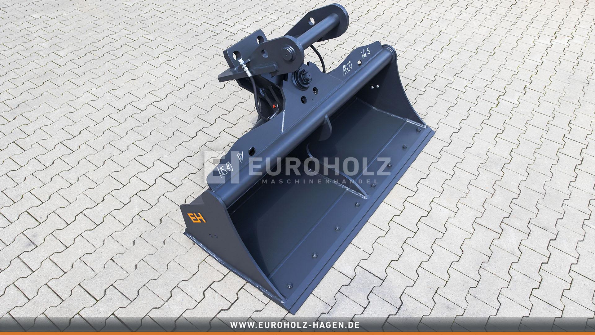 Hydraulischer Grabenräumlöffel passend für Lehnhoff MS10 / 1800 mm / Kat. 3G / mit Unterschraub-Wendemesser