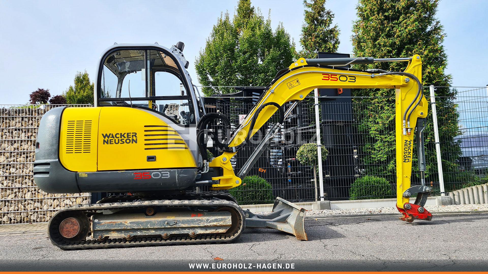 Minibagger Wacker 3503 RD mit MS03 2x Steuerkreis. nur 1119 Bh