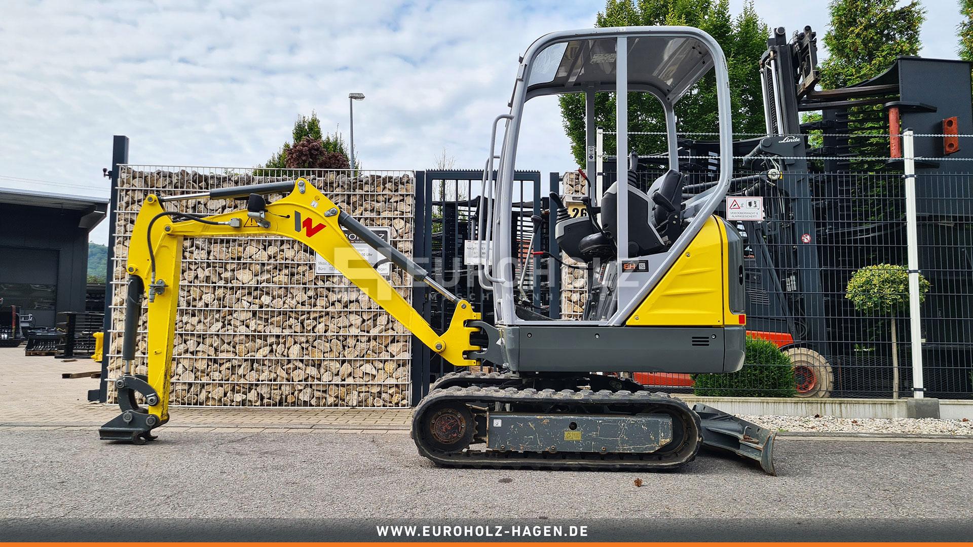 Minibagger Wacker Neuson ET16 nur 705 Bh Schutzdach MS01