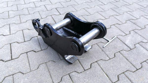 Schnellwechsler mechanisch passend für Lehnhoff MS03 nach Maß / Bolzenstärke von 36 bis 50 mm / mit Lasthaken / Kat. 3K