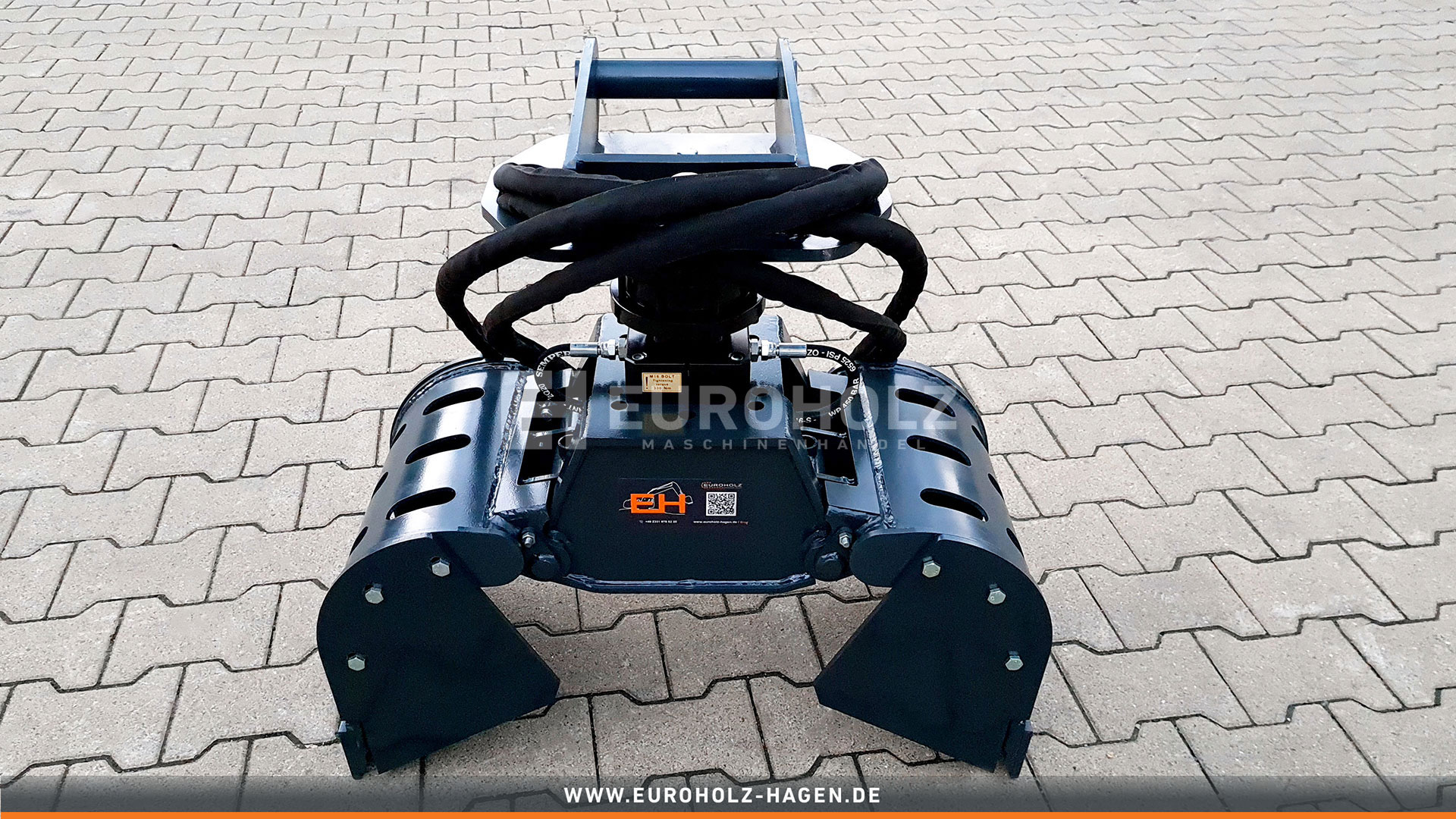 Sorting grab with rotator suitable for MS01 / cat. Kat. 1K / incl. hydraulic set / with side covers