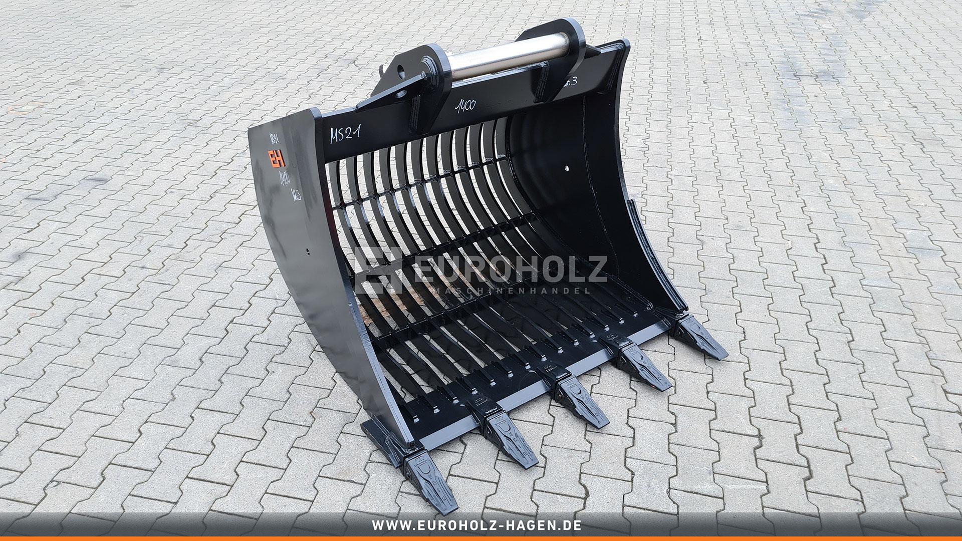 Skeleton bucket suitable for Lehnhoff MS21/MS25 / 1400 mm / cat. 3G